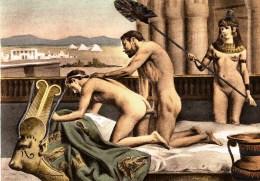 Antinoos und Hadrian bei der Zerstörung Roms
